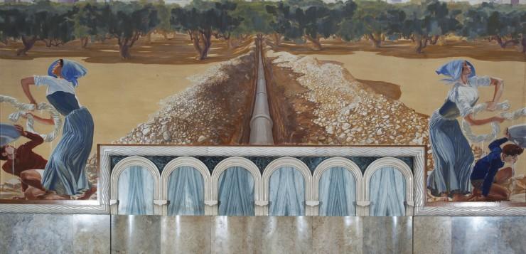 2 Duilio-Cambellotti-Palazzo-dell¹Acquedotto-Pugliese-Sala-del-Consiglio-tela-parete-centrale