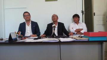 il presidente Lippolis, il socio Cervellera ed il tecnico Salerno